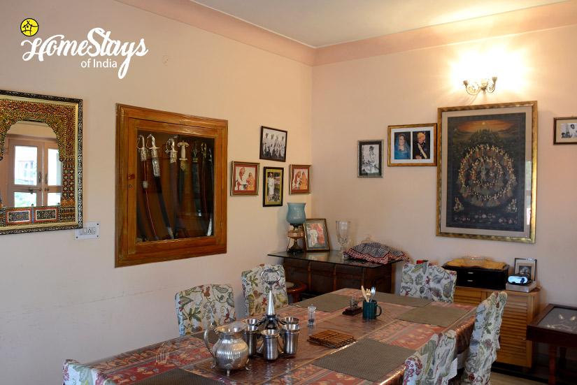 Dinning Room_Peelwa Heritage Homestay_Jaipur