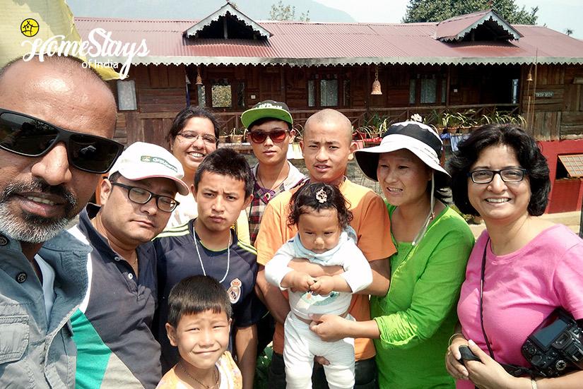 Guest-&-Host_Khecheopalri-Homestay-Sikkim