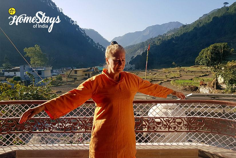 Yoga Time_Gangori Homestay, Uttarkashi