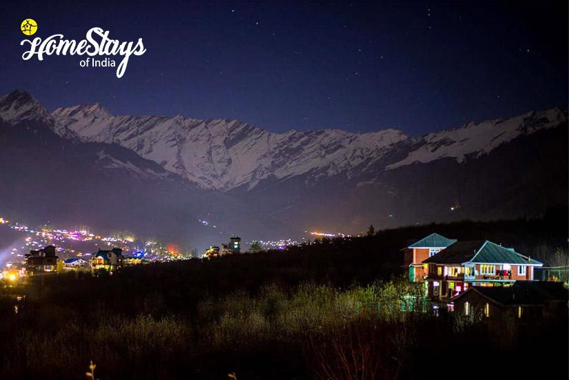 Night View2-Shuru Homestay_Manali