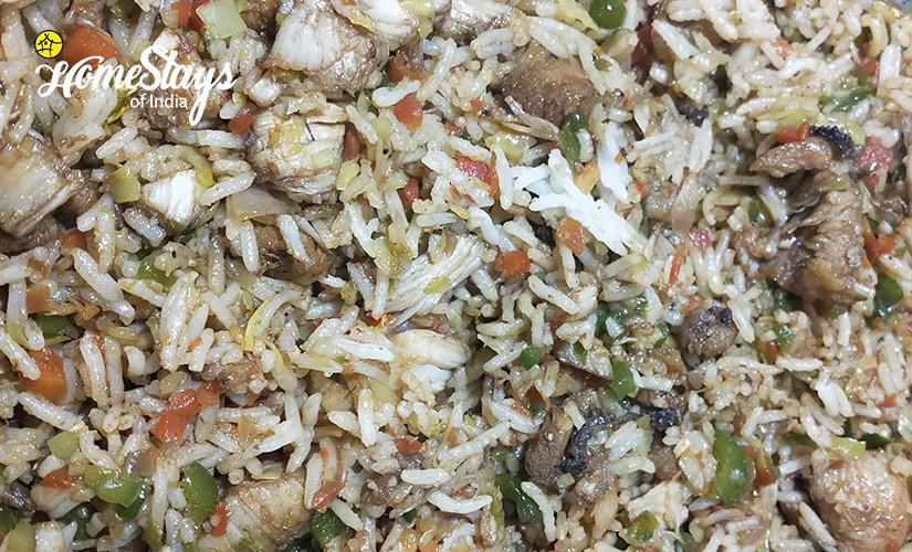 Chicken-Rice_Kais Village Homestay-Kullu