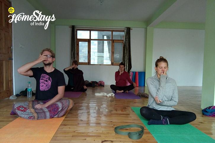 Yoga-1-Vashisht Homestay-Manali