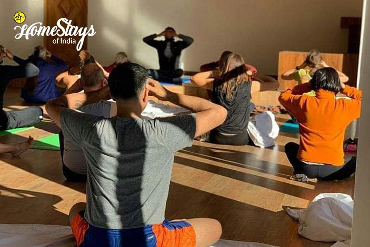 Yoga-Class-Vashisht Homestay-Manali