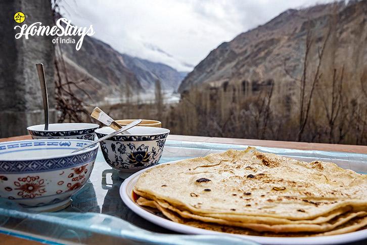 Breakfast-Turtuk Homestay-Ladakh