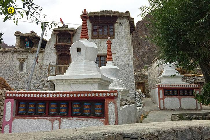 Chortens_Achinathang Homestay-Ladakh
