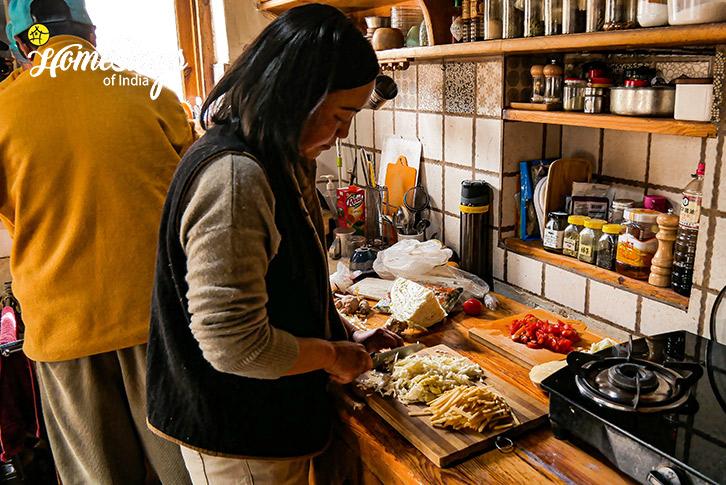Cooking-Stok Eco Village Homestay-Leh