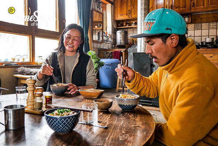 Dinning-Stok Eco Village Homestay-Leh
