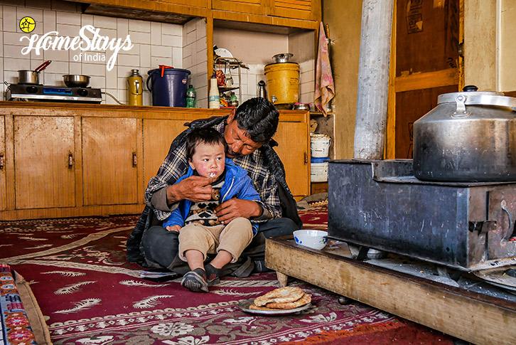 Father-Son-Diskit Homestay-Nubra Valley-Ladakh
