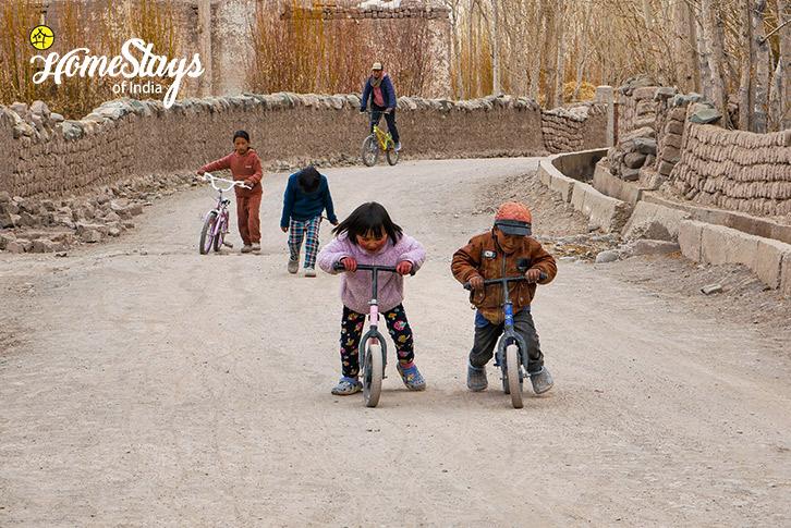 Kids Fun-Stok Eco Village Homestay-Leh