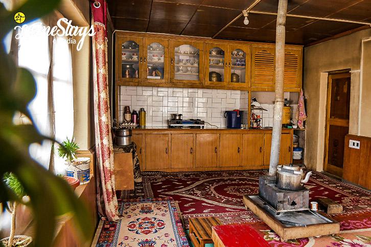 Kitchen-Diskit Homestay-Nubra Valley-Ladakh
