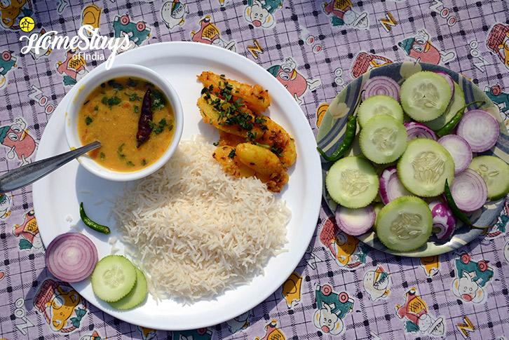 Lunch-Jone's Estate Homestay-Bhimtal