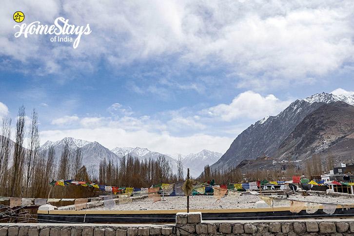 Terrace-Diskit Homestay-Nubra Valley-Ladakh