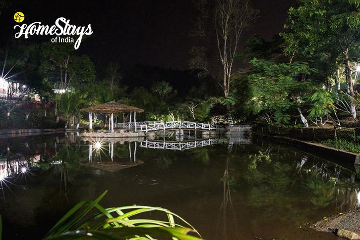 Pond at night-Umsaw Nongkharai Homestay-Ri Bhoi
