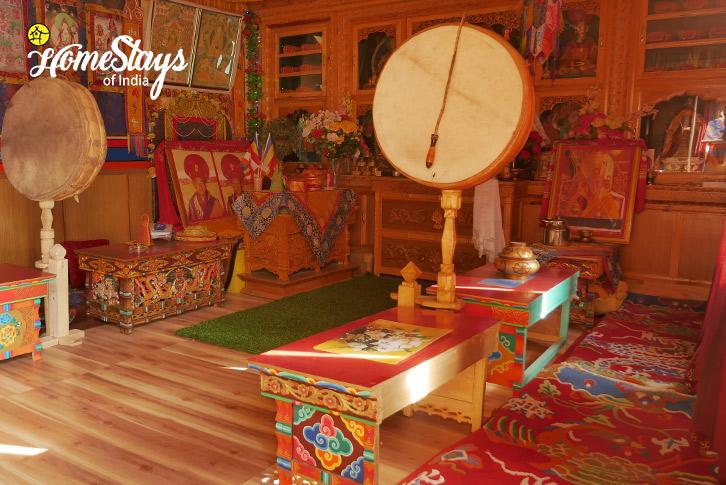 Prayer Hall_Skurbuchan Homestay-Ladakh
