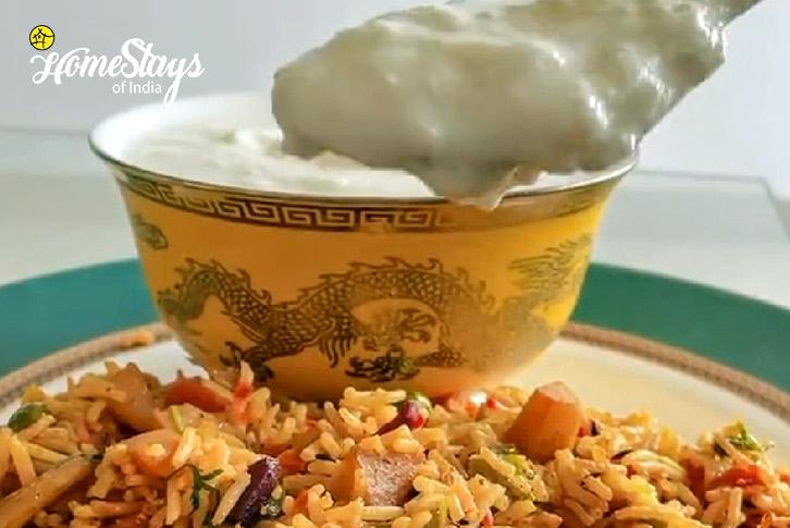 Curd Rice-Chorten Homestay-Tabo