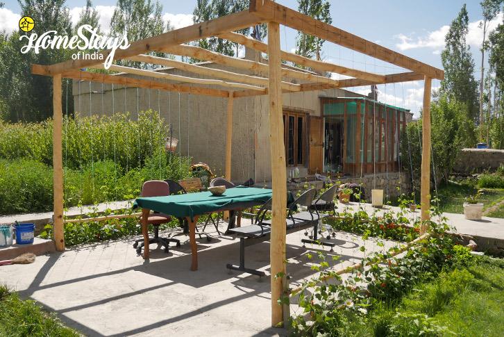 Garden-Thiksey Homestay-Ladakh