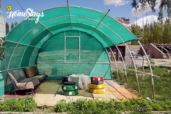 Outdoor Seating-Thiksey Homestay-Ladakh